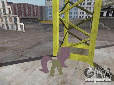 Fluttershy para GTA San Andreas segunda pantalla
