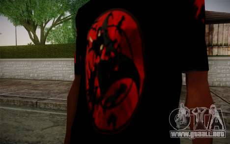 Uchiha Itachi T-Shirt para GTA San Andreas segunda pantalla