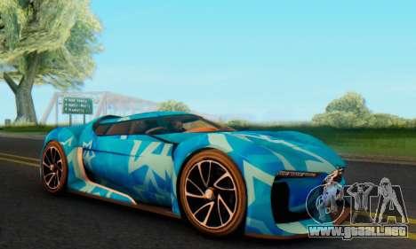 Citroen GT Blue Star para GTA San Andreas left