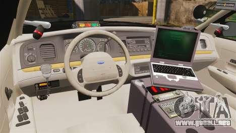 Ford Crown Victoria Sheriff [ELS] Slicktop para GTA 4 vista hacia atrás