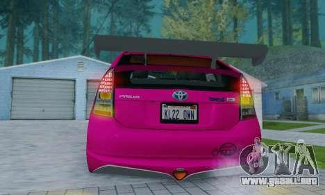 Toyota Prius Tunable para la vista superior GTA San Andreas