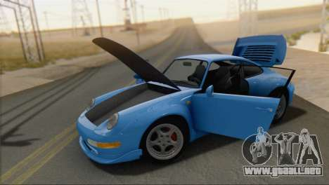 Porsche 911 GT2 (993) 1995 V1.0 SA Plate para la visión correcta GTA San Andreas