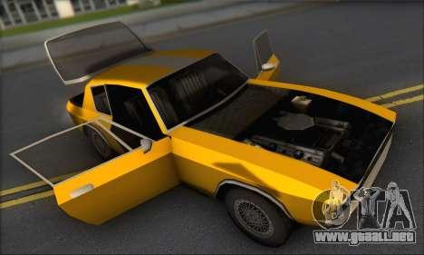 Jensen Intercepter 1971 Fast And Furious 6 para GTA San Andreas vista hacia atrás