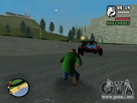 El golpe de estado para GTA San Andreas segunda pantalla