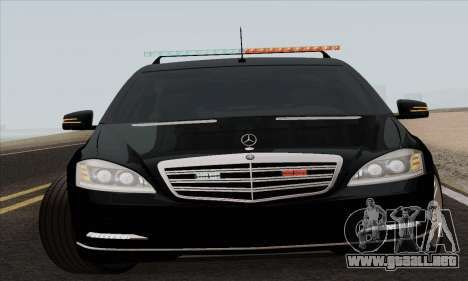Mercedes-Benz S600 W221 2012 para GTA San Andreas left