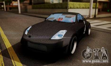 Nissan 350z Angel Beast Itasha Edition para vista inferior GTA San Andreas
