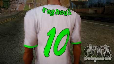 Algerian Football T-Shirt para GTA San Andreas tercera pantalla