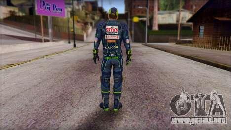 Piers Azul Gorra para GTA San Andreas segunda pantalla