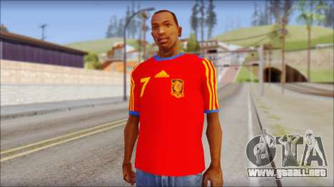 Spanish Football Shirt para GTA San Andreas