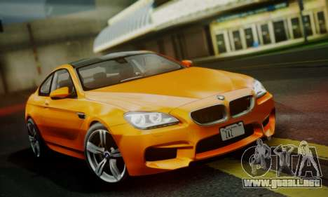 BMW M6 F13 2013 para vista lateral GTA San Andreas