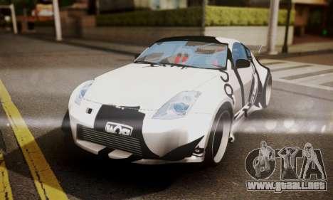 Nissan 350z Angel Beast Itasha Edition para la vista superior GTA San Andreas