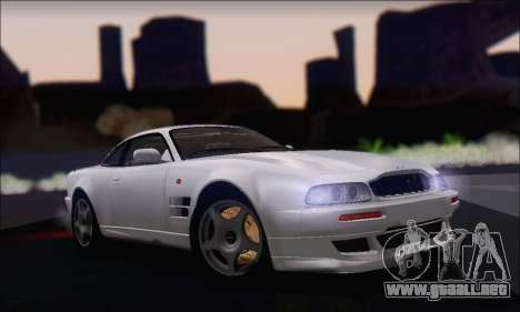 Aston Martin V8 Vantage V600 1998 para GTA San Andreas vista posterior izquierda