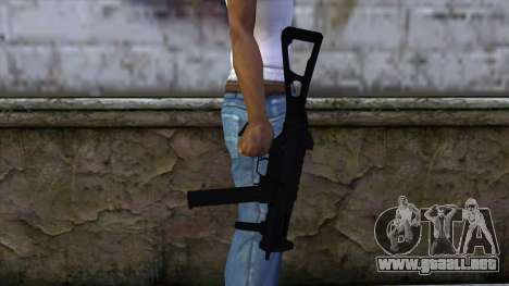 UMP-45 from CS:GO v2 para GTA San Andreas tercera pantalla