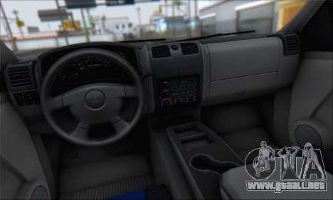 Chevrolet Colorado Cleaning para vista lateral GTA San Andreas