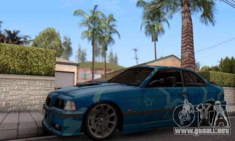 BMW M3 E36 Coupe Blue Star para GTA San Andreas left
