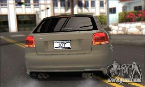 Audi S3 2006 Custom para GTA San Andreas left