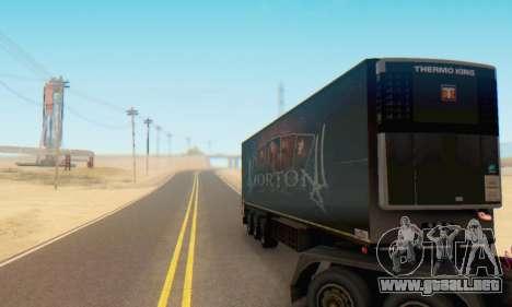 Trailer Chereau Morton Banda 2014 para GTA San Andreas vista hacia atrás