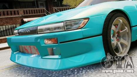 Nissan Silvia S13 v1.0 para GTA 4 Vista posterior izquierda