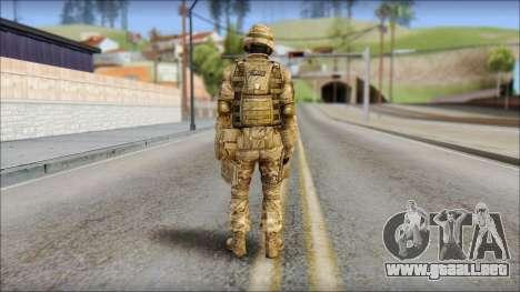 Desert GRU from Soldier Front 2 para GTA San Andreas segunda pantalla