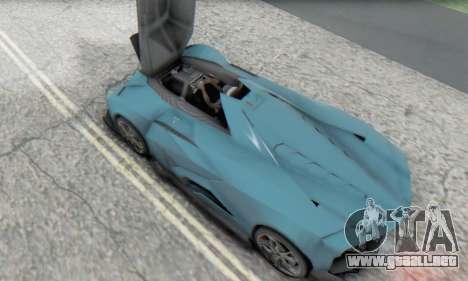 Lamborghini Egoista Concept 2013 para visión interna GTA San Andreas