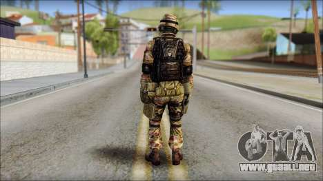 Forest GRU from Soldier Front 2 para GTA San Andreas segunda pantalla