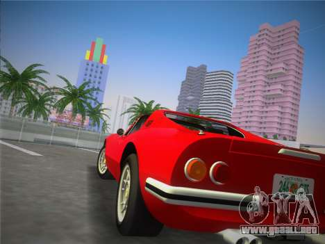 Ferrari 246 Dino GTS 1972 para GTA Vice City left