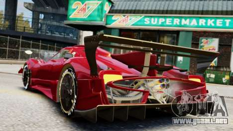 Pagani Zonda Autosport para GTA 4 left