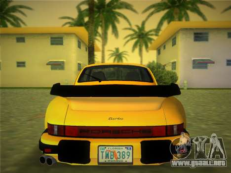 Porsche 911 Turbo 3.3 Coupe US-spec (930) 1978 para GTA Vice City vista lateral izquierdo