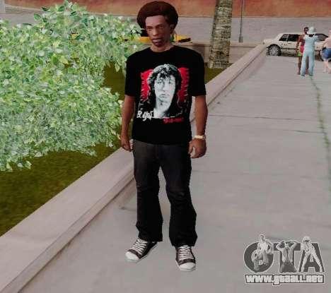T-shirt c Viktor Tsoi para GTA San Andreas segunda pantalla