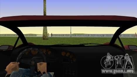 Zentorno from GTA 5 para GTA Vice City vista lateral izquierdo
