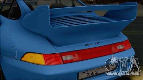 Porsche 911 GT2 (993) 1995 V1.0 SA Plate para la vista superior GTA San Andreas
