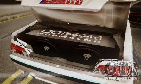 Peugeot Pars Limouzine para vista lateral GTA San Andreas