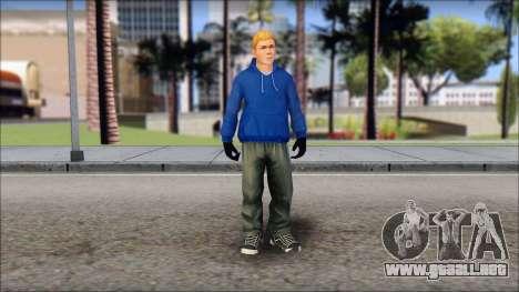 Jimmy from Bully Scholarship Edition para GTA San Andreas segunda pantalla