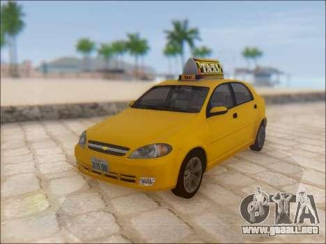 Chevrolet Lacetti Taxi para GTA San Andreas