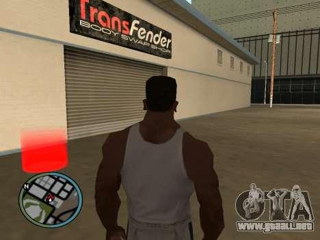 Evacuador de v1.0 para GTA San Andreas tercera pantalla
