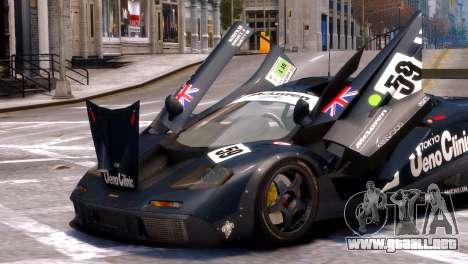 McLaren F1 GTR para GTA 4 visión correcta