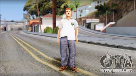 Russell from Bully Scholarship Edition para GTA San Andreas segunda pantalla