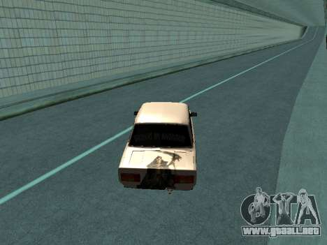 VAZ 2105 para GTA San Andreas vista posterior izquierda