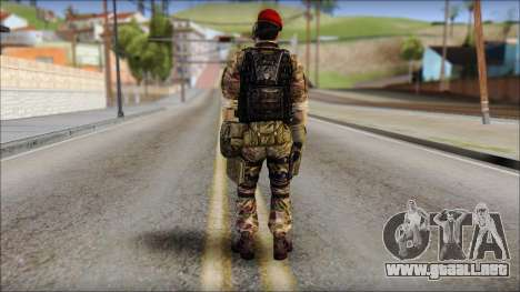 Forest GRU Vlad from Soldier Front 2 para GTA San Andreas segunda pantalla
