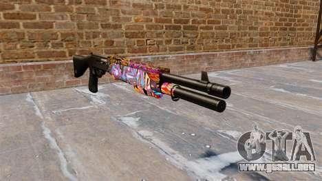 Ружье Franchi SPAS-12 Graffiti para GTA 4