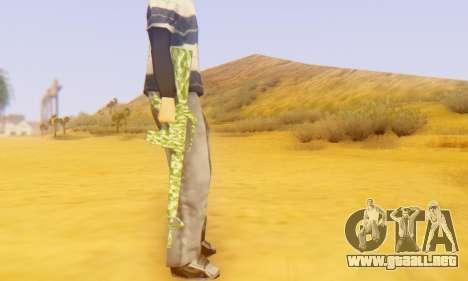 Camo M16 para GTA San Andreas sucesivamente de pantalla