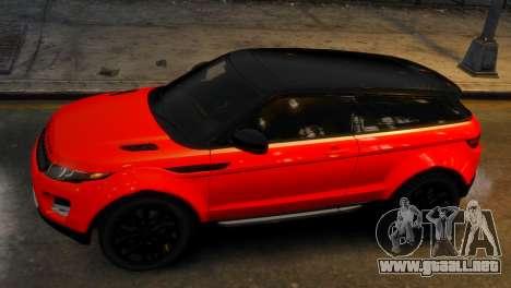 Land Rover Range Rover Evoque para GTA 4 visión correcta