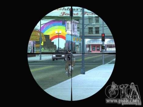 Sniper mod: Realism para GTA San Andreas segunda pantalla