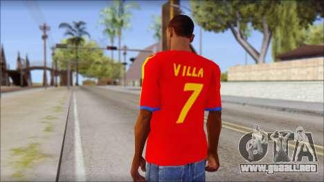 Spanish Football Shirt para GTA San Andreas segunda pantalla