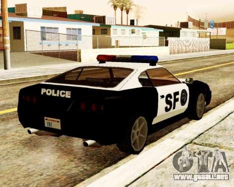Jester Police SF para GTA San Andreas vista posterior izquierda