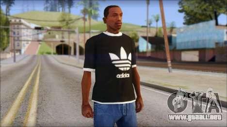 Adidas Black T-Shirt para GTA San Andreas