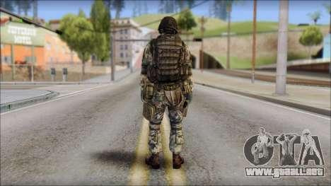 Forest GROM from Soldier Front 2 para GTA San Andreas segunda pantalla