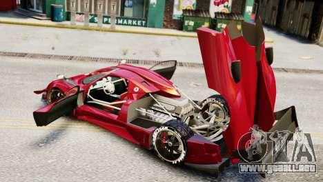 Pagani Zonda Autosport para GTA 4 Vista posterior izquierda