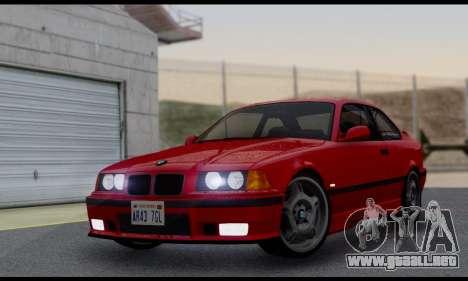 BMW M3 E36 1994 para GTA San Andreas vista hacia atrás