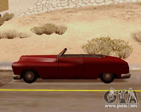 Hermes Convertible para GTA San Andreas left